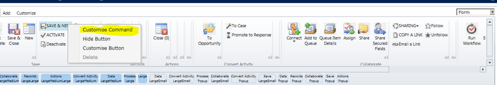 "UnHide or restore ""Save and New"" button in CRM 2013. (2/6)"
