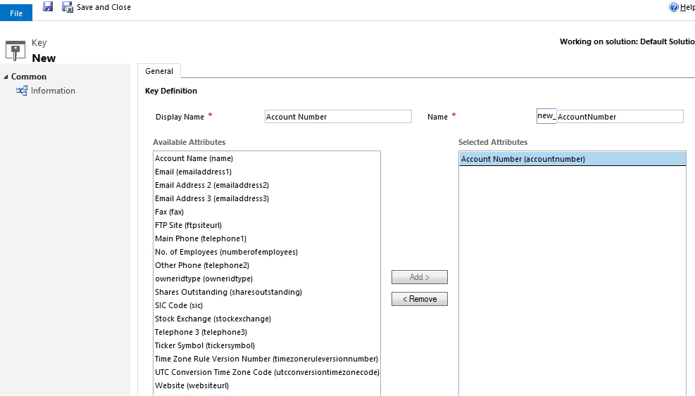 What is Alternate Key - CRM 2015 Update 1 (2/2)