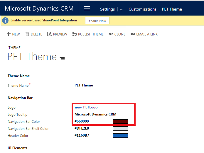 Theming in MS CRM 2015 Update 1 (3/4)